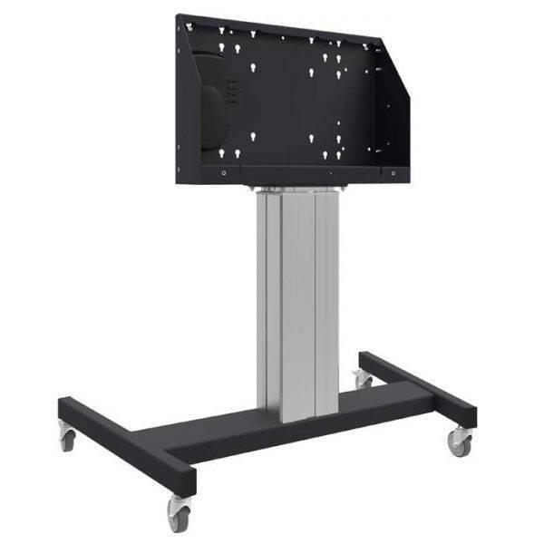 Vloerlift op wielen voor touchscreens max. 70 inch, 120 kg ZILVERGRIJS