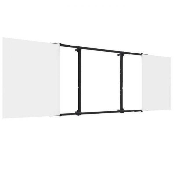 Montageset incl. whiteboards van gelakt staal voor touch scherm 55 – 65 inch