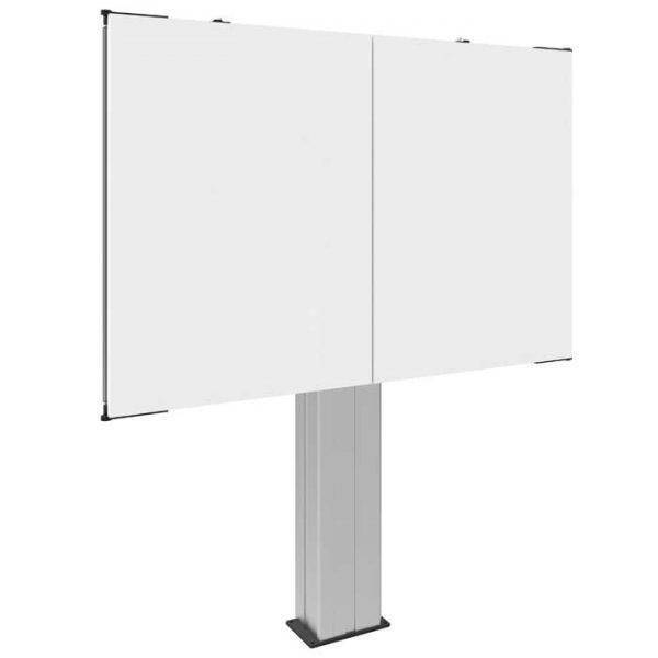Montageset incl. whiteboards van gelakt staal voor touch scherm 70 inch